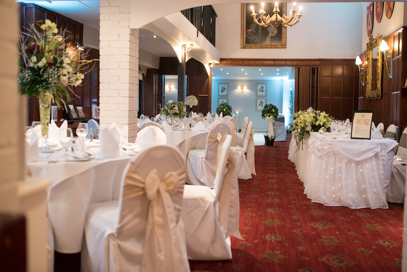 Hampshire exclusive use venue for weddings, a beautifully decorated wedding room