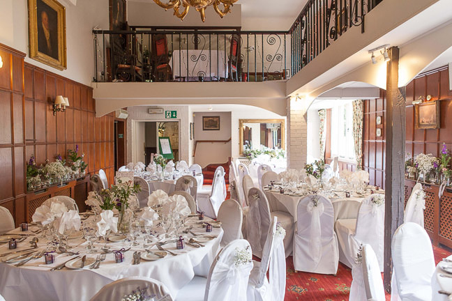 Wedding room decorated in a hampshire wedding venue