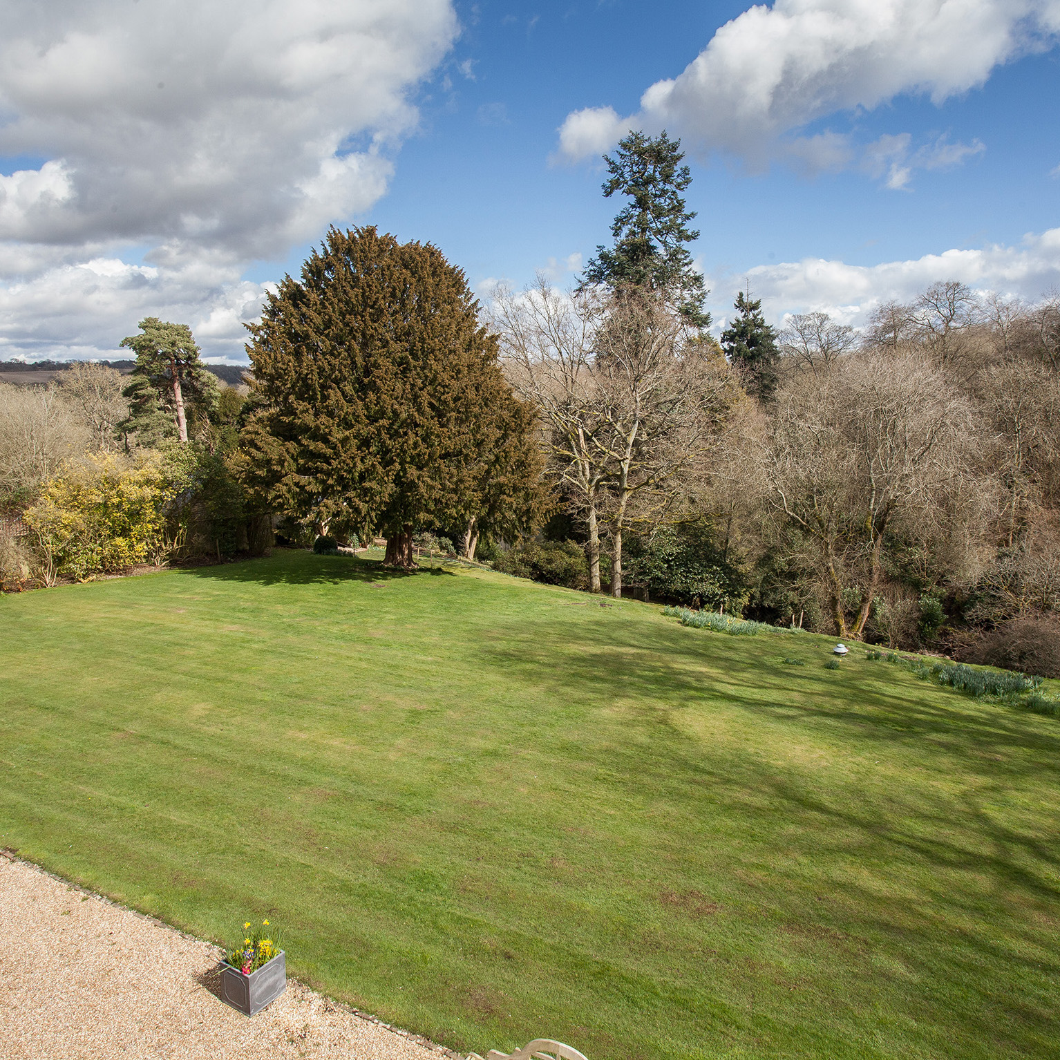 14 acres of grounds at Langrish House B&B in Hampshire