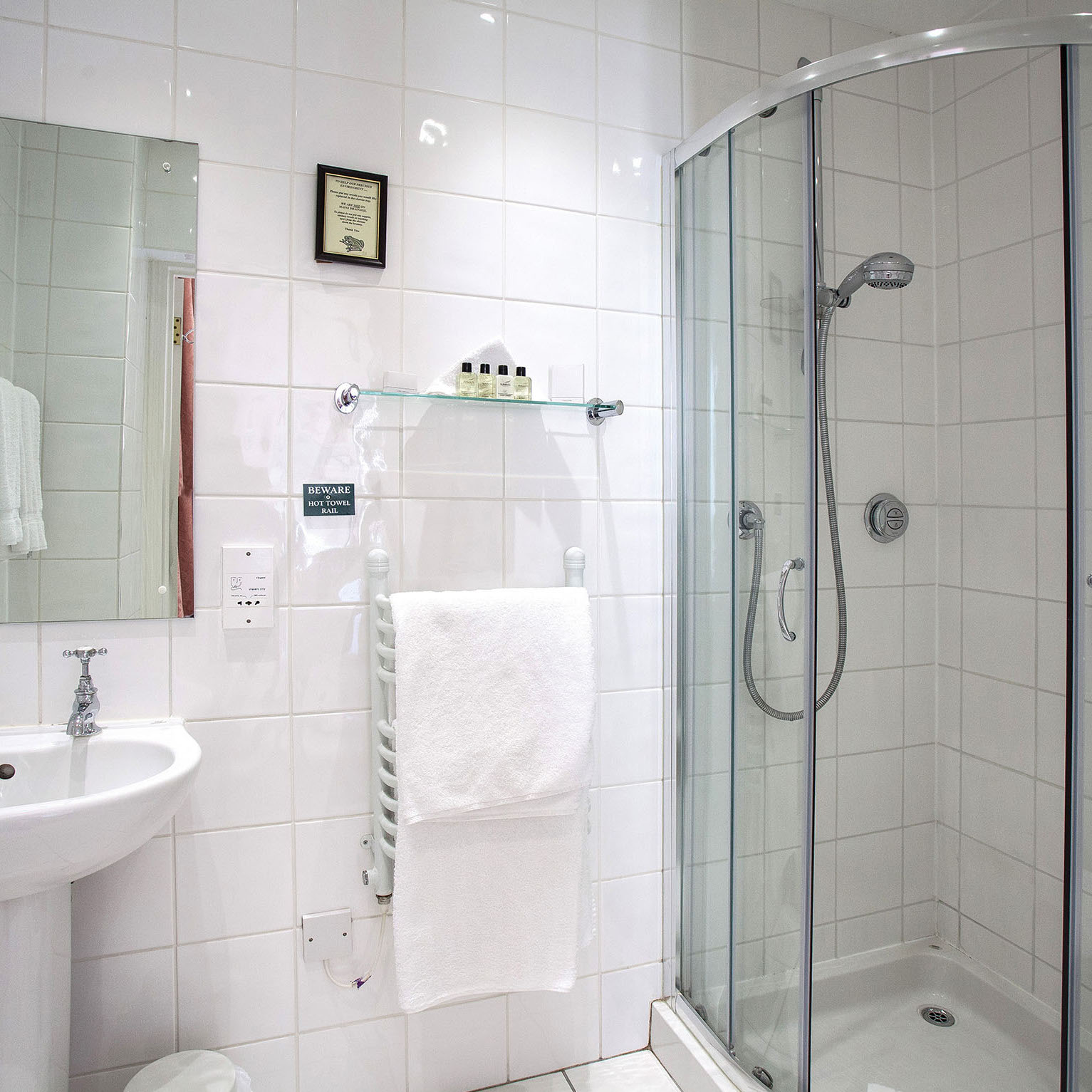 Beautiful and clean en-suite shower at our luxury Hampshire bed and breakfast