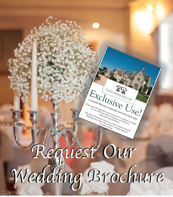 Request our wedding brochure if you are looking for an exclusive-use wedding venue in Hampshire