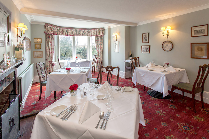 Our exclusive use wedding venue in Hampshire with a delightful dining room