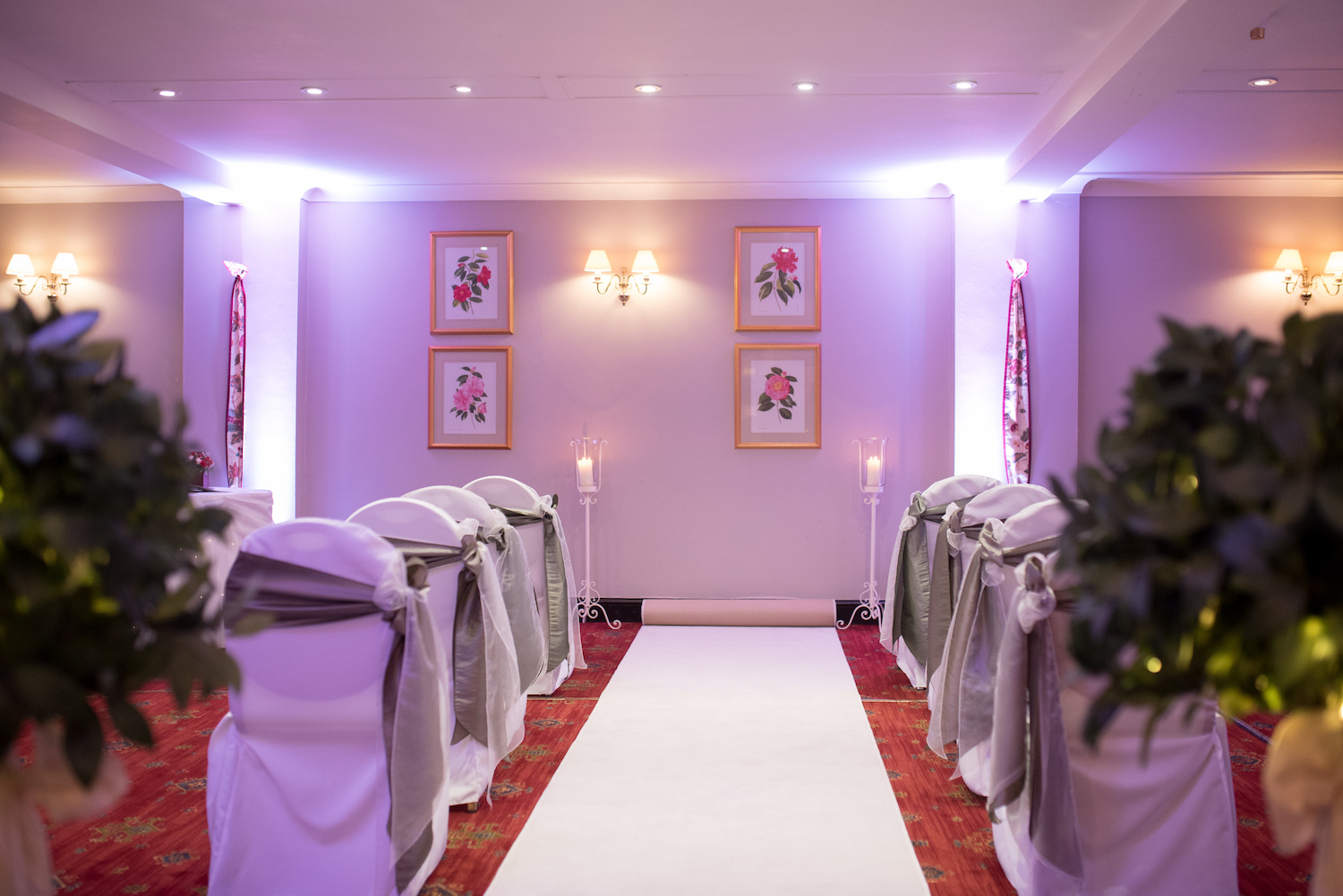 Civil ceremony wedding venue Hampshire with a beautiful wedding marriage room